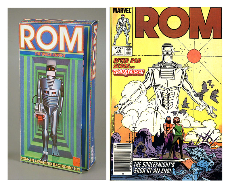 Parker Brothers ROM Spacenight toy and Marvel Comics  ROM  February 1986. The Strong  Rochester  New York  USA.