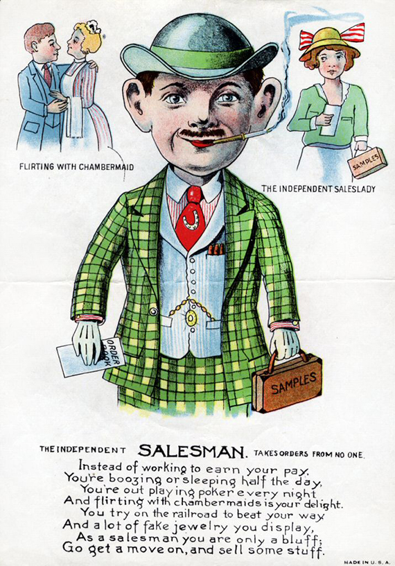Salesman Valentine  about 1920. The Strong  Rochester  New York.