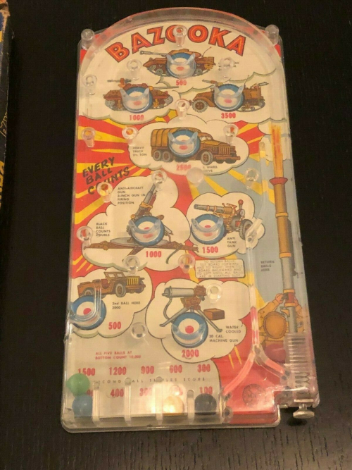 Vintage-Patriotic-Bazooka-Bagatelle-Table-Top-Pinball-Game-_57