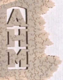 Detail of Par puzzle showing owner's initials in a drop-out  and a very irregular border. The Strong  Rochester  New York.