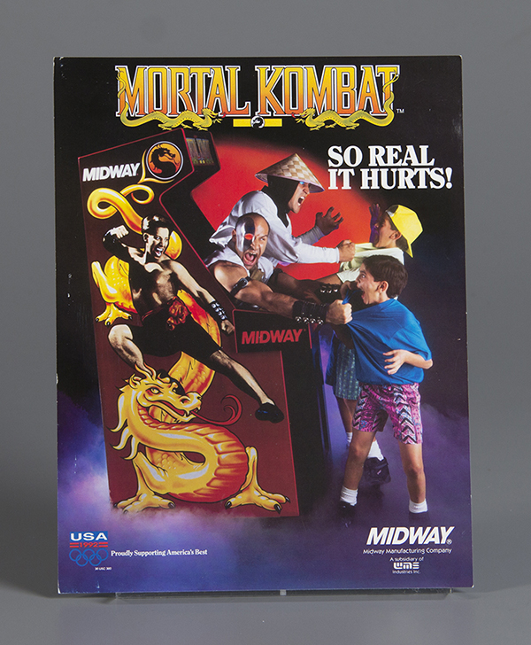 Mortal Kombat Arcade Flyer  Midway Mfg. Co  1992. The Strong  Rochester  New York.