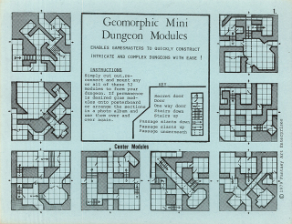 Geomorphic Mini Dungeon Modules  1979. The Strong  Rochester  New York.