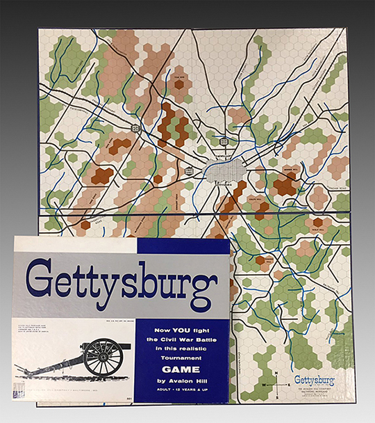 Gettysburg Civil War Battle Game  The Avalon Hill Company  1961. Gift of Darwin P Bromley and Peter Y Bromley  The Strong  Rochester  New York  USA