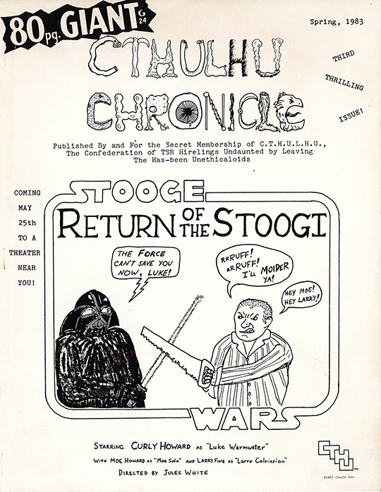 CTHULU Chronicle fanzine for ex-TSR employees  1983. The Strong  Rochester  New York.
