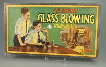 Gilbert Glass Blowing set  about 1923. The Strong  Rochester  New York.