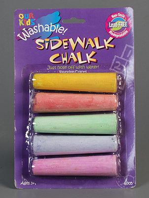Our Kids Washable Sidewalk Chalk  1997  gift of Marcia Reese. The Strong  Rochester  New York.