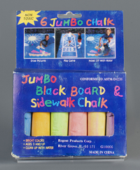 Jumbo Black Board & Sidewalk Chalk  1990  gift of Marcia Reese. The Strong  Rochester  New York.