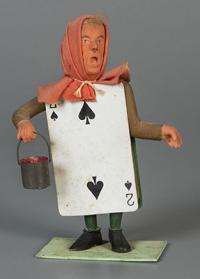 Gardener figure (missing his brush to paint the roses)  1948  gift of Glen Cubitt. The Strong  Rochester  New York.